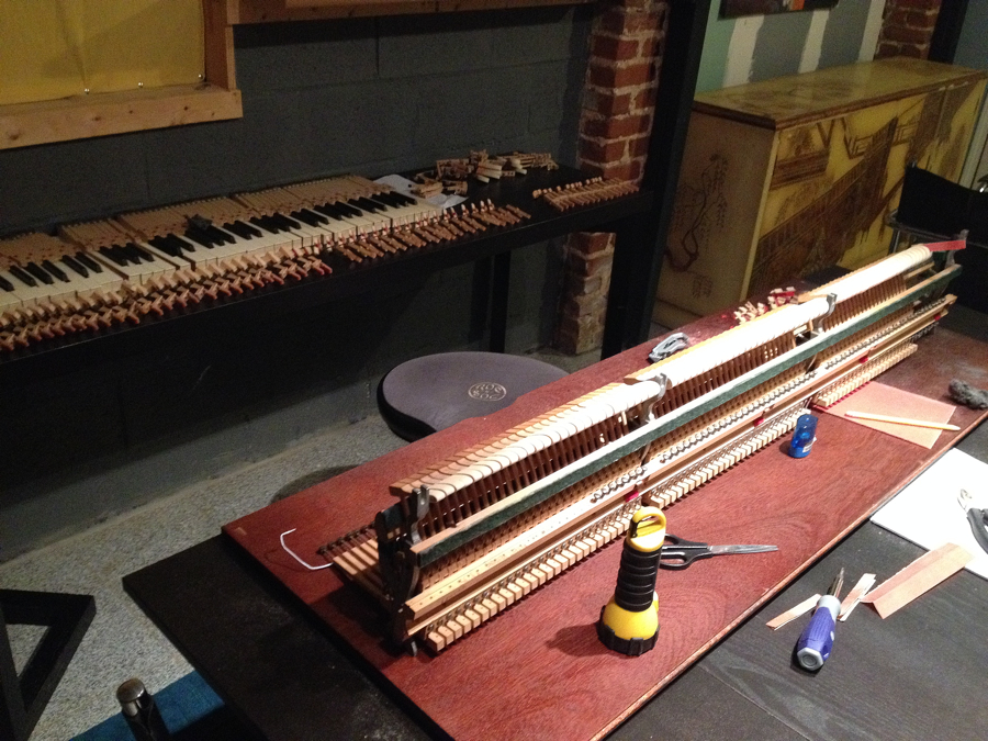 work space piano action spinet restoration cable nelson?w=620 spinet a theory of music Antique Cable-Nelson Piano at aneh.co
